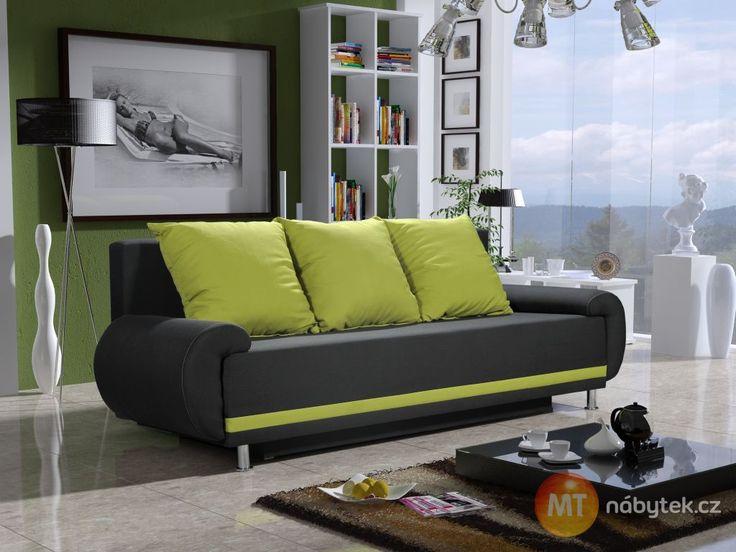 Moderní rozkládací pohovka Iris s úložným prostorem #settee #sofa #divan #couch