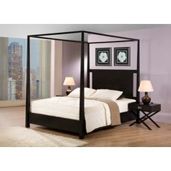 @Overstock - Napa Queen-size Black Canopy Bed - This solid hardwood queen size canopy bed would bring a huge splash of hotel luxury straight into your home. Its tall, elegant, tapered posts and open top oozes sophistication and the cut out headboard adds a modern appeal to this classic piece.   http://www.overstock.com/Home-Garden/Napa-Queen-size-Black-Canopy-Bed/5749895/product.html?CID=214117 $593.99