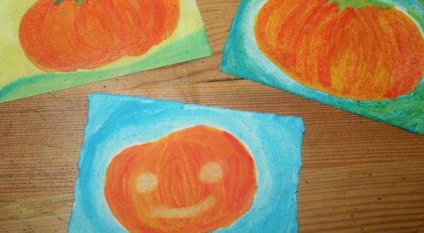 Acquarello steineriano LA ZUCCA DI HALLOWEEN Si tratta di un'attività di pittura guidata, accompagna...