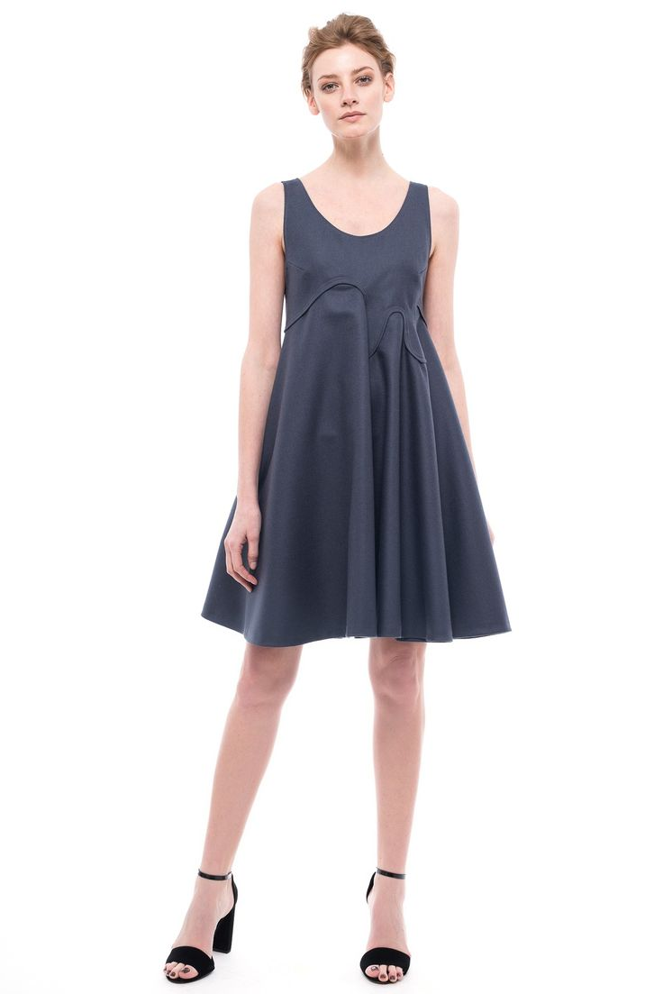 Wool Pinafore Dress