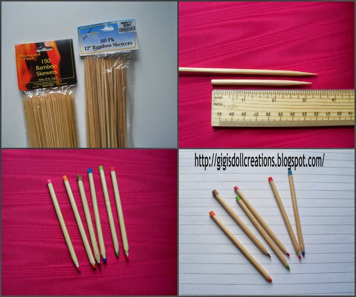 GiGi's Doll and Craft Creations: DIY Tutorial 18 inch doll Pencils and other School Supplies