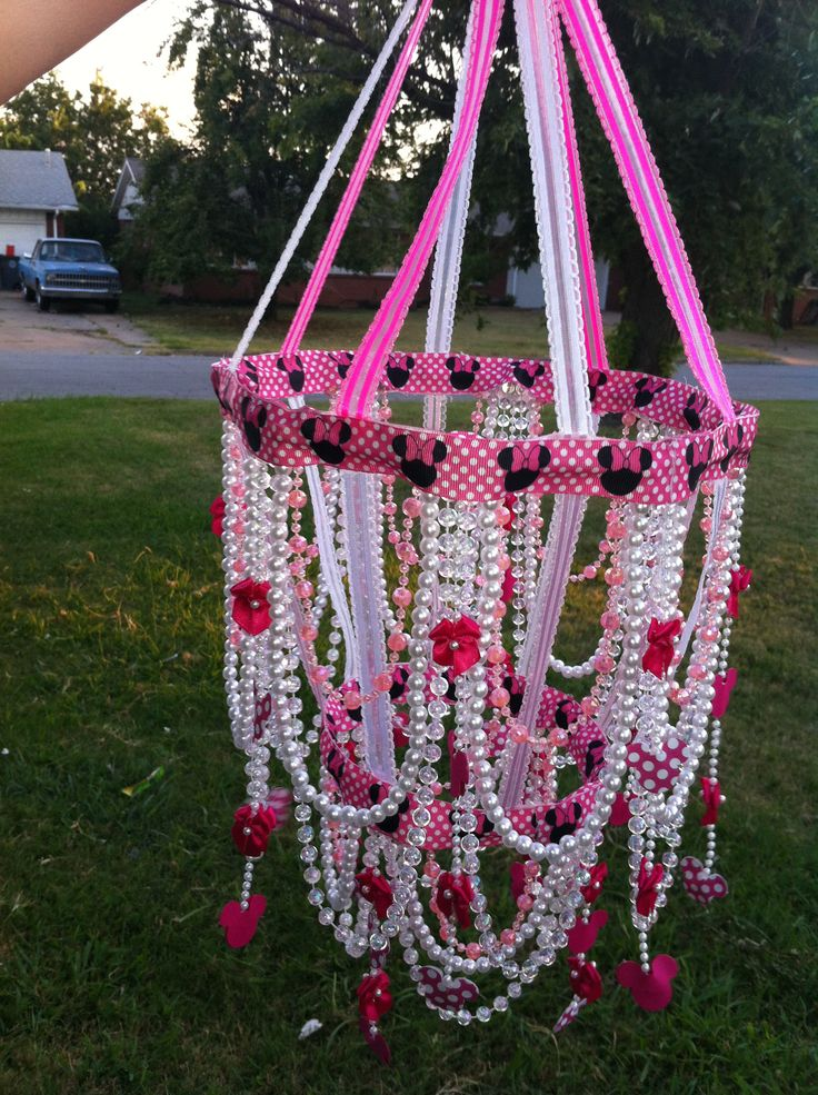 Minnie Mouse hand made baby chandelier. kasiopiaa@gmail.com