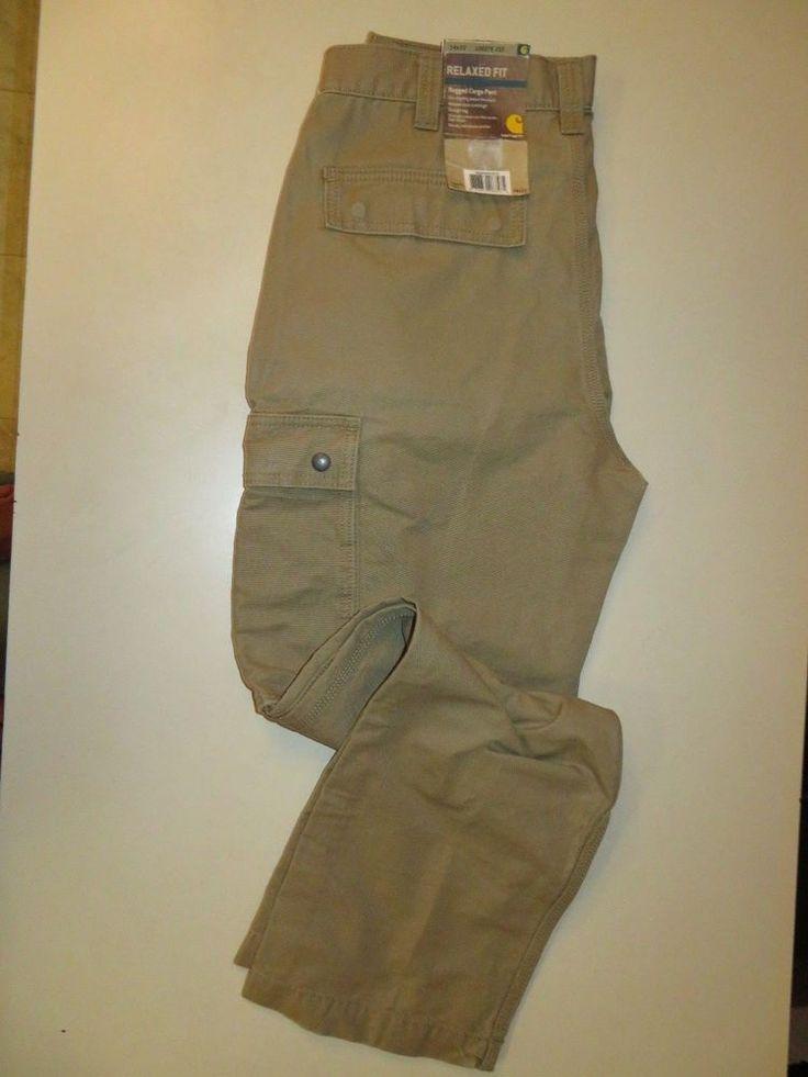 Carhartt Men's Rugged Cargo Pant Relaxed Fit Tan Size 32 x 34 #Carhartt #Cargo