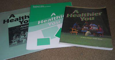 A Beka 7th grade Health textbook and teacher's keys A Healthier You