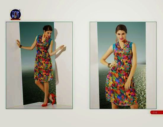 Beautifully designed indo-western Georgette Kurti digitally Printed Mixed colored. Available in sizes from S to XL