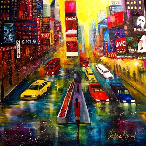 """Helena's art's photo. """"The City of Light"""" A new Finished painting. #Broadway #NewYork #art #painting #artist #abstract #exhibitions #fineart #gallery #collection #colours #drawing #buyart #nofilter #commission #mural #wall #paintingoftheday"""