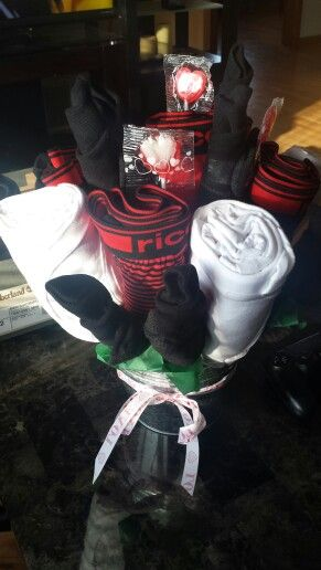 Underwear and socks bouquet for him....With tshirts!