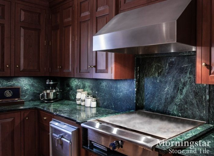 Great Kitchen Design Inspiration: Custom Vermont Verde Antique Serpentine  Countertops Were Crafted And Installed In This Maine Home. // Find More  Inspiru2026
