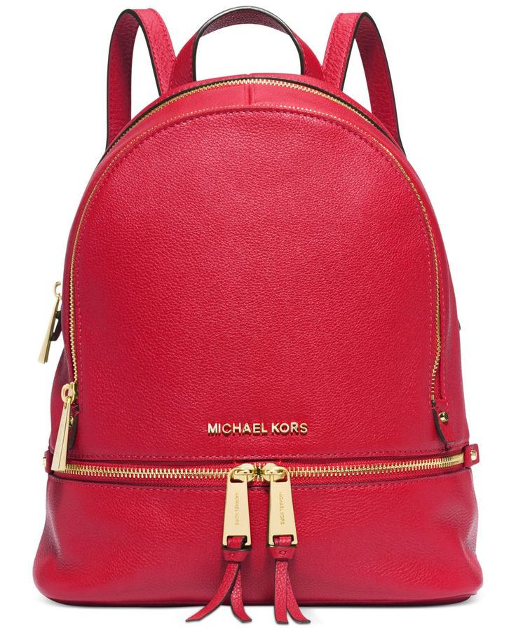 From the sidewalk to the catwalk, you won't want anything on your arm when you see this Michael Michael Kors backpack-it's right on-trend and oh-so-easy to tote. | Leather | Imported | Small sized bac