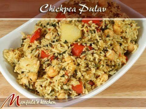 Chickpea Pulav (Chola Biryani, One Pot Meal) - Manjula's Kitchen - Indian Vegetarian Recipes