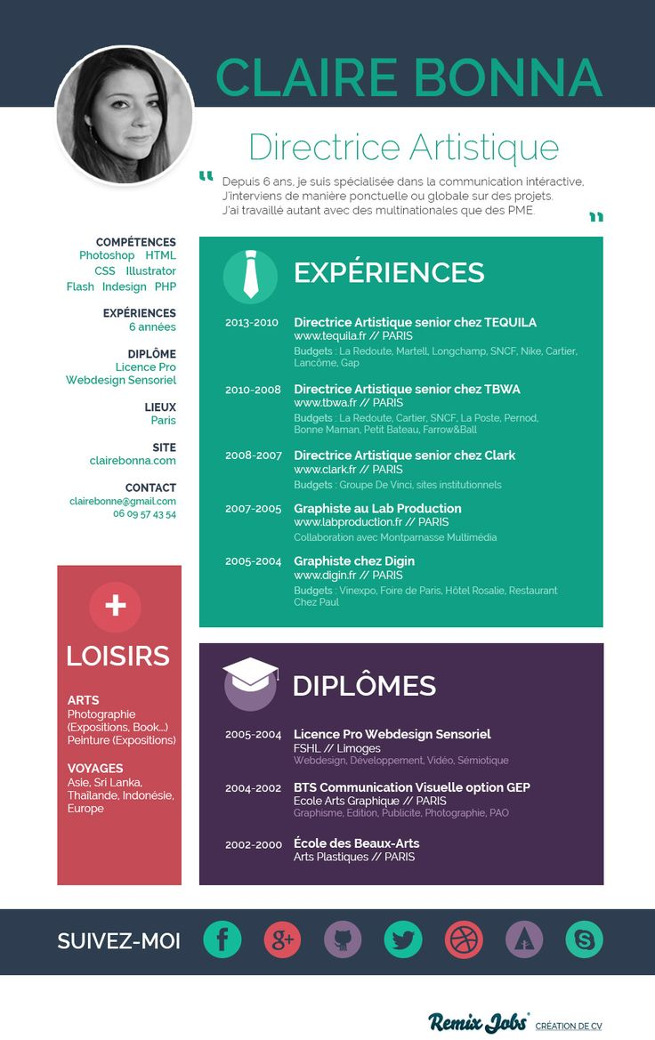 17 Best images about Resume Design & Layouts on Pinterest #0: d15c78b347df97fdd7e43da2908e9360