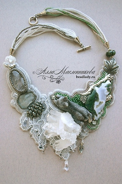 Gorgeous Inlaid Stone Necklace