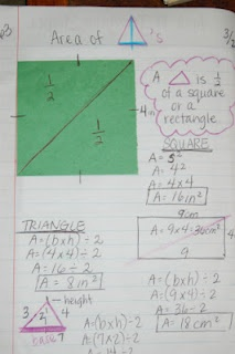 Area of Triangles FOLDABLE