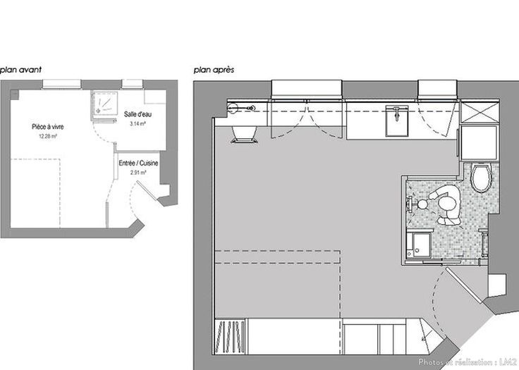 Plan Amenagement Studio 25m2. Amenagement Salon Cuisine M Awesome ...