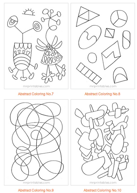 abstract coloring pages pinterest - photo#46