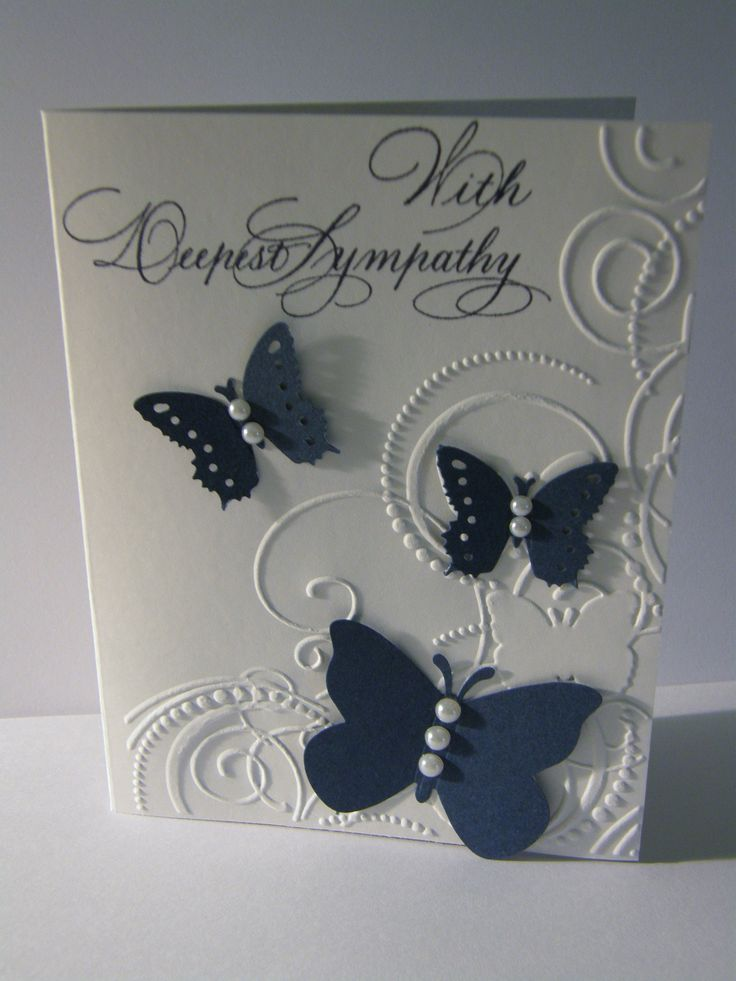 Sympathy card using Darice embossing folder.