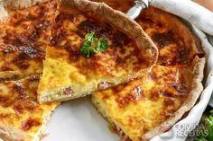 Receita de Quiche lorraine especial em receitas de tortas salgadas, veja essa e outras receitas aqui!