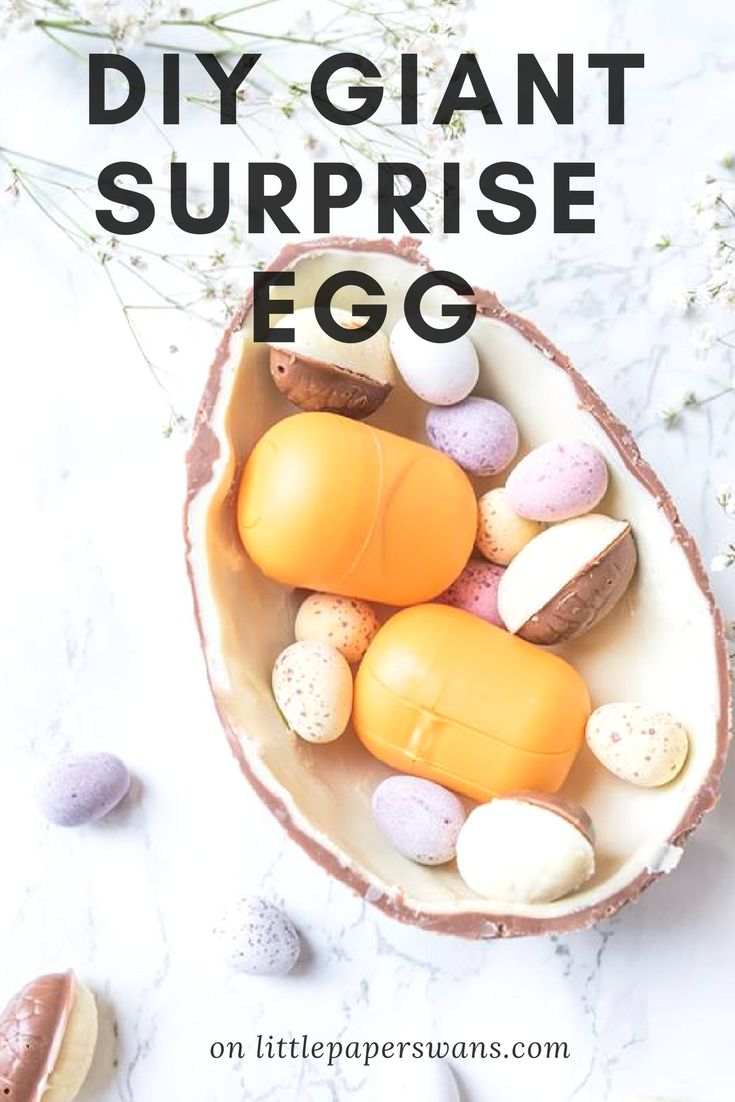 Make your own giant Surprise Egg. Perfect for children and adults a like. Great Easter holiday rainy day activity or perfect as an Easter gift!