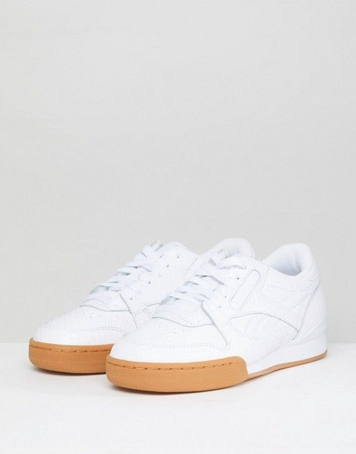 66a42274df7199 Reebok Classic Phase 1 Pro Sneakers In Embossed Faux Snake ...