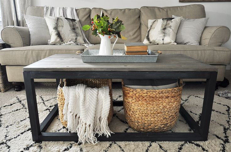 42 best farmhouse style images on pinterest craft ideas for Industrial farmhouse coffee table