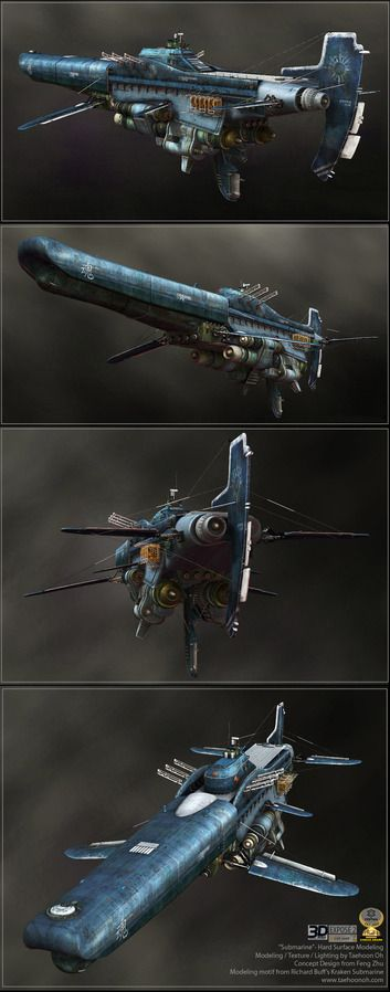 Blue Submarine by Taehoon - Taehoon Oh - CGHUB via PinCG.com