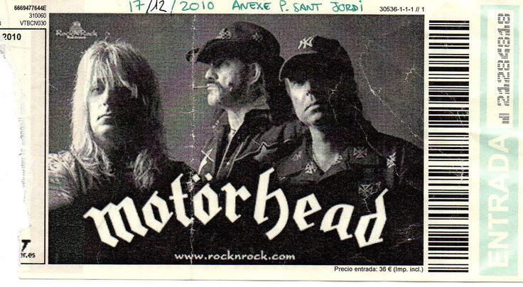 The Outlaw: Motörhead. Sant Jordi Club, Barcelona, 17/12/2010