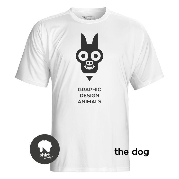 Graphic Design Animals T-Shirt Series, The Dog #T-shirt #design #graphic_design by George Nikolaidis