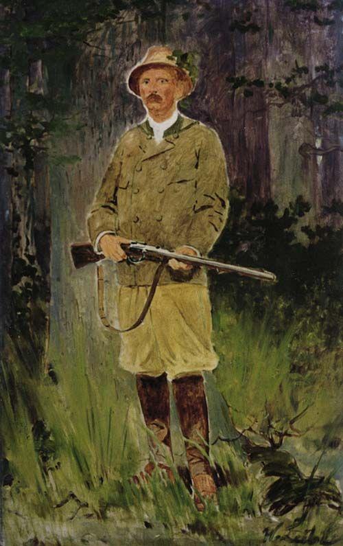 Hunter by Wilhelm Leibl Der Jäger (German 1844-1900)
