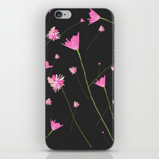 Flowers in the Night II iPhone & iPod Skin