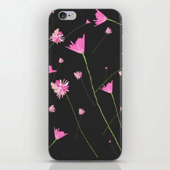 Flowers in the Night II iPhone & iPod Skin