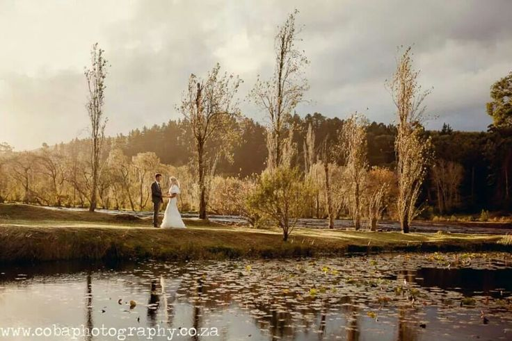Sun came out for beautiful wedding pics. At Houw Hoek Inn. The perfect winter wedding location!