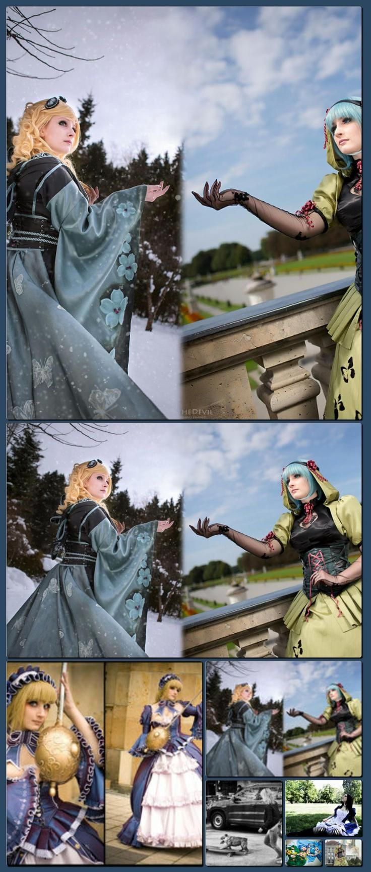 Reincarnation - Cosplay by *Jibril-Cosplay on deviantART [Collage made with one click using http://pagecollage.com] #pagecollage