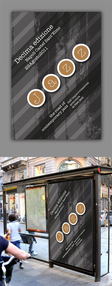 Esercizio di Grafica ILAS per la creazione di un manifesto Jazz.