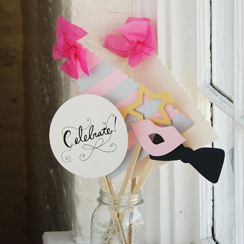 Let's Celebrate! This prop kit is perfect for a photo booth at any event and available with your photo booth rental!