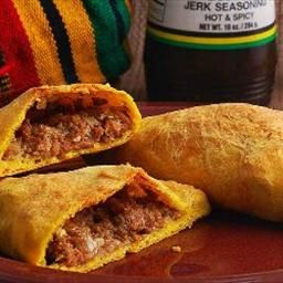 Jamaican Meat Patties on BigOven: Spicy beef wrapped in tender, flakey crust. Just like in Kingston town. Ya Mon!!