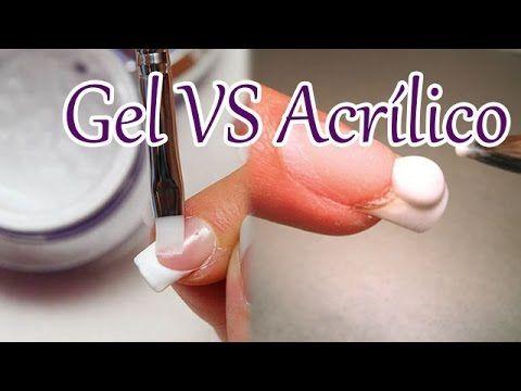 Gel e Acrílico Diferenças, Aplicação e Remoção - YouTube