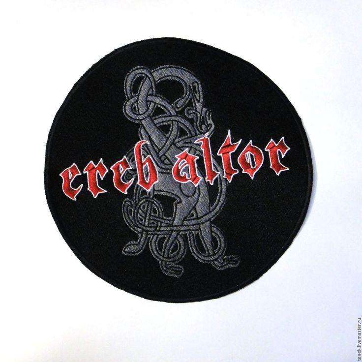 Купить Байкерские нашивки на спину Вышитый патч шеврон Мотонашивка - байкерская одежда, байкерская эмблема