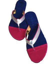 Buy Pink plain fancy fabric footwear footwear online