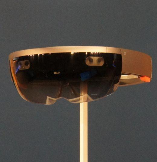 Microsoft HoloLens augmented reality device.