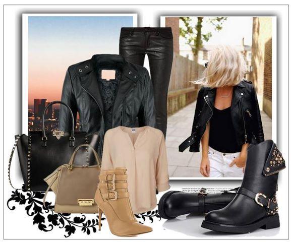 Stylizacja stylizacja kurtka damska wiosenna typu ramoneska ze skóry wytłaczanej z ciepłym misiem kołnierz stójka model #90 w sklepie fashionavenue.pl