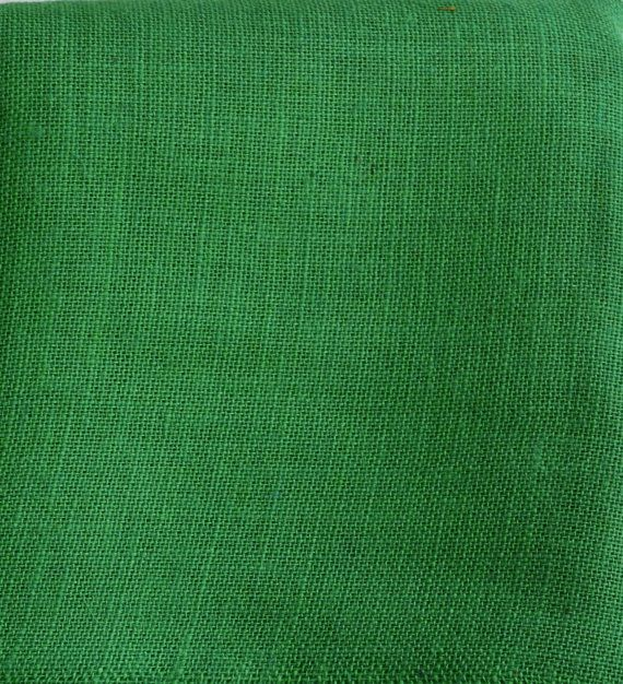 Green Burlap Fabric  Natural ecofriendly fabric by fabWorldFabrics