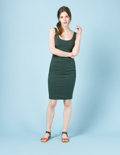 Scoop Neck Ruched Dress