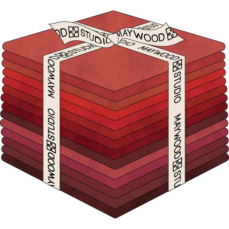 Shadow Play Reds Fat Quarter Bundle by Maywood Studio
