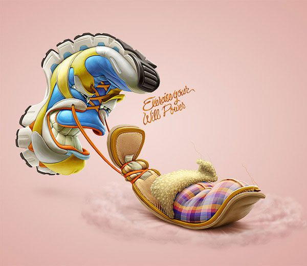 choose to live healthy exercise your will power illustrations by oscar ramos (2)