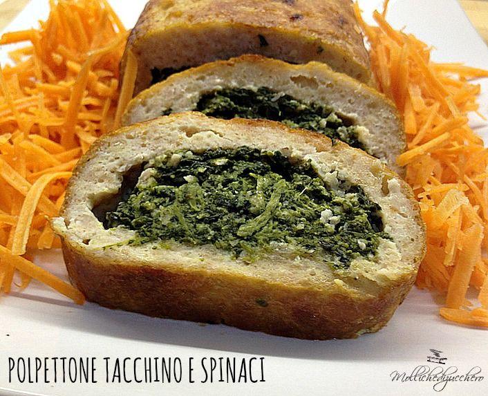 Il polpettone di tacchino e spinaci è un secondo piatto buonissimo, non esistono altri aggettivi per descriverlo, bello da vedere e squisito da mangiare.