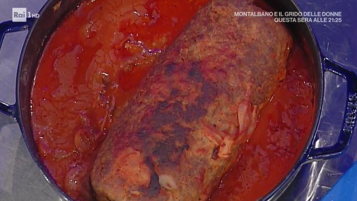 """La ricetta del polpettone al sugo di Anna Moroni del 29 novembre 2017, a """"La prova del cuoco"""". Il secondo ed il primo in un colpo solo!"""