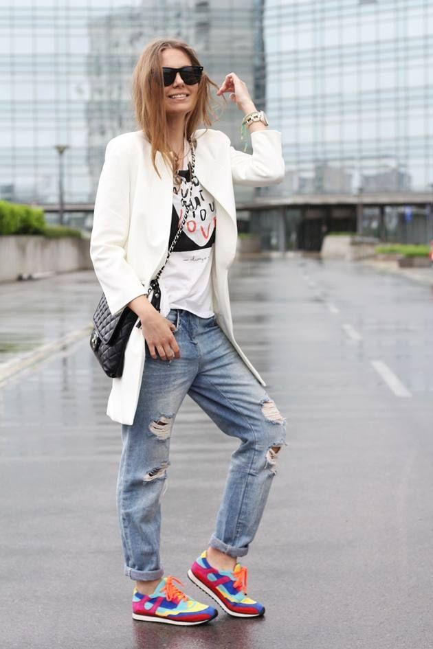 Sneakers ...   #bag #side #over #blazer #coat