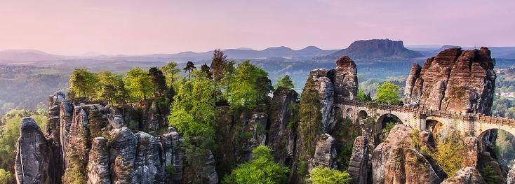 Sächsische Schweiz - Blick zur Bastei