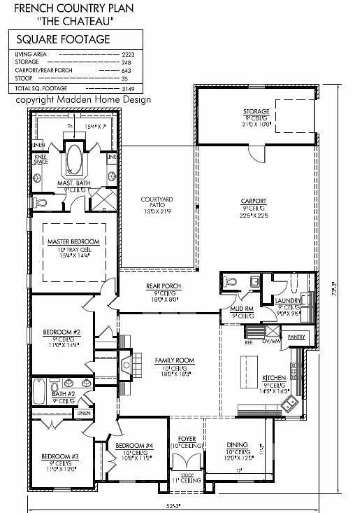Madden home design the chateau 2223 sq ft floor plans for Madden house plans