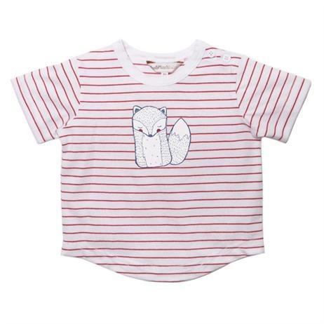Fox & Finch Bon Voyage Fox Stripe Tee, Kids Clothes